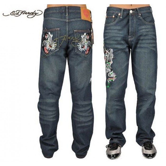 Ed Hardy Mens Jeans 0521 Huge Discount