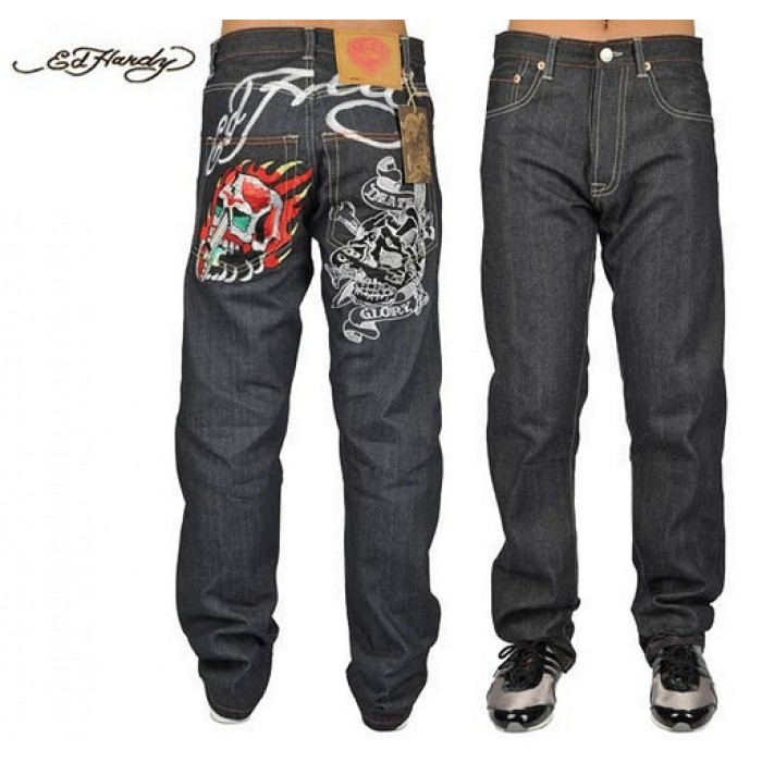 Ed Hardy Mens Jeans 0229 clothing on sale