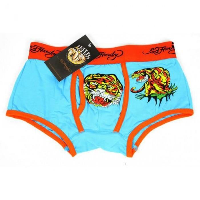 ED Hardy Mens Underwear Blue Discount