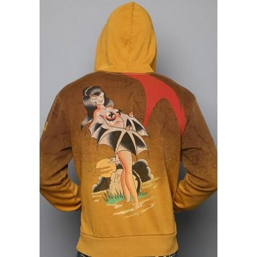Ed Hardy Skullerfly Vintage Wash Hoody