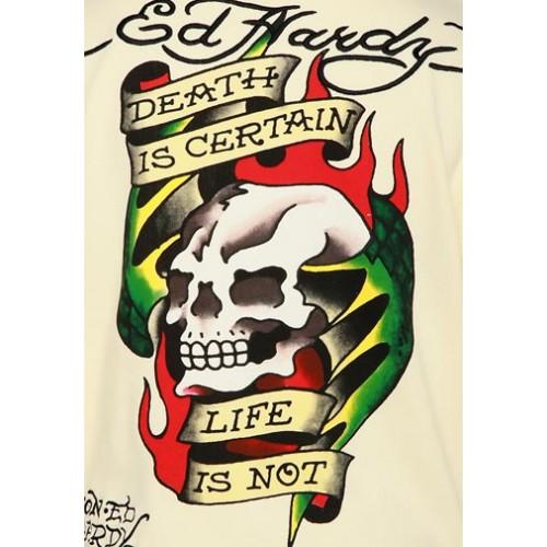 Ed Hardy Mens Death Is Certain Basic Hoody
