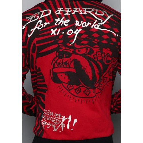 Ed Hardy Mens Bulldog Cap Specialty Hoody