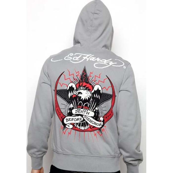 Ed Hardy Death Before Dishonor Basic Hoody 02