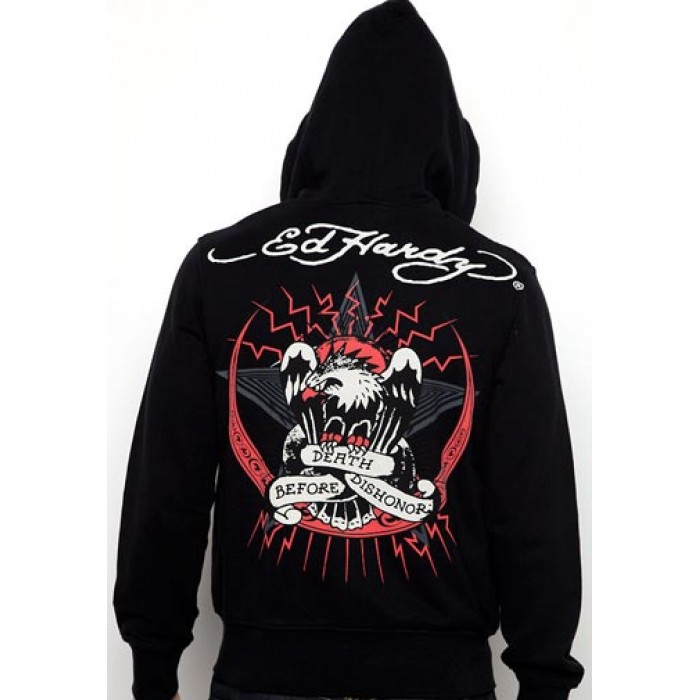 Ed Hardy Death Before Dishonor Basic Hoody