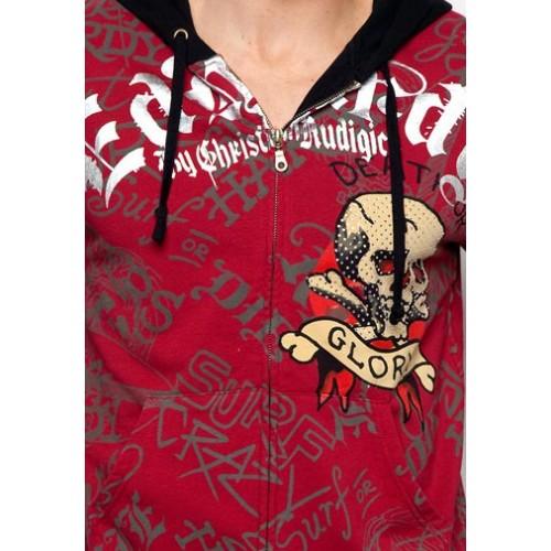 Ed Hardy Mens Skull Glory Platinum Hoody