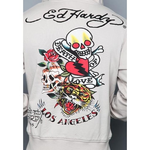 Ed Hardy Death Of Love And Tiger Basic Hoody 02