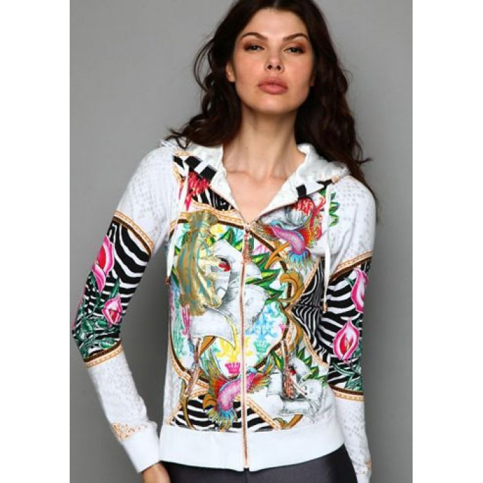 Christian Audigier Blooming Beauty Velour Hoody Black