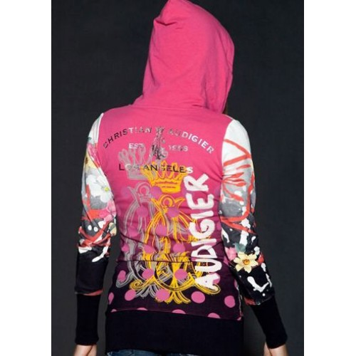 Christian Audigier CA Celtic Traits Velour Hoody Pink