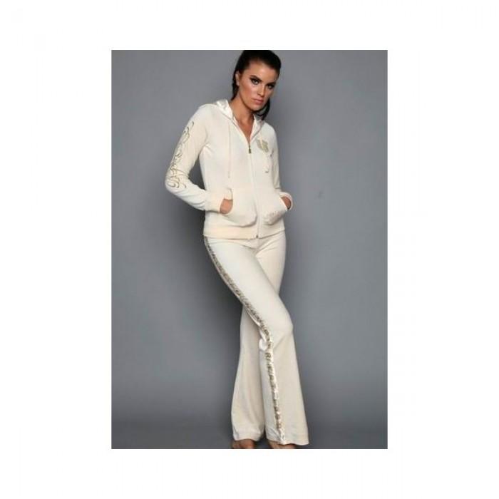 Christian Audigier Womens Long Suit in White