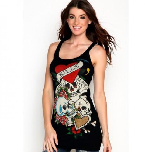 ED Hardy Womens Tanks clothing on sale