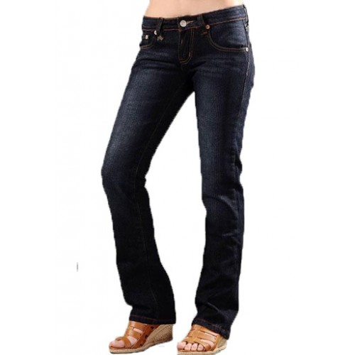 Ed Hardy Womens Jeans Washed straight cut Blue top brands