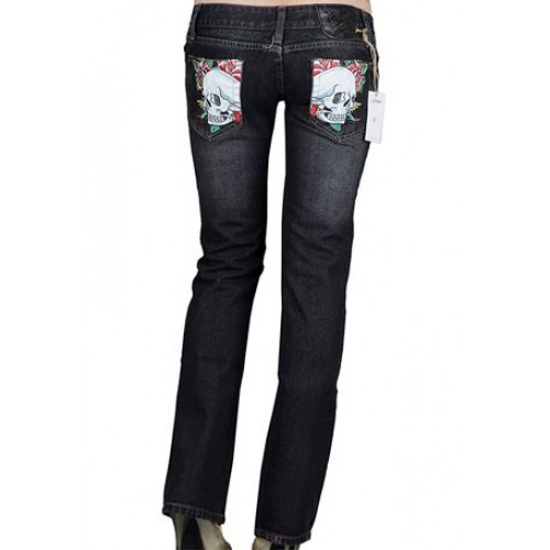Ed Hardy Womens Jeans Washed straight cut Blue retail prices