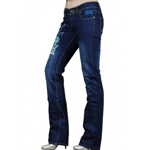 Ed Hardy Womens Jeans Washed straight cut Blue Online Shop
