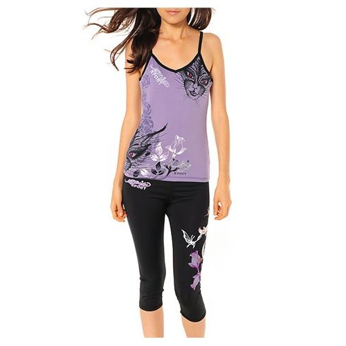 Ed Hardy Cat Eyes And Roses Sport Camisole Camisole