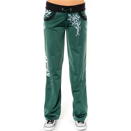 Ed Hardy Cat Eyes And Roses Track Pants Track Pants Teal