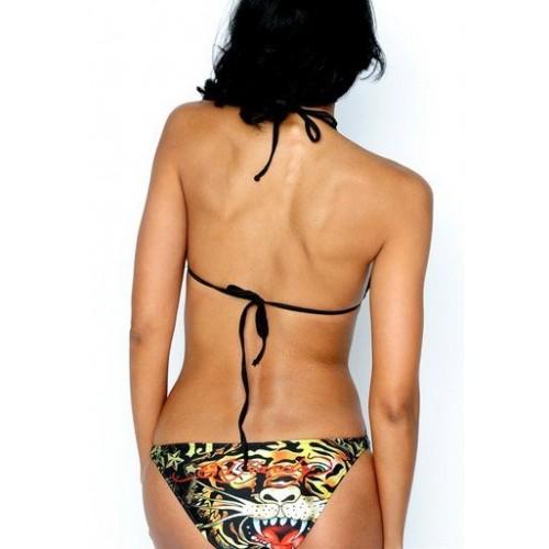 Ed Hardy Womens Two Piece 3-Ring Bikini